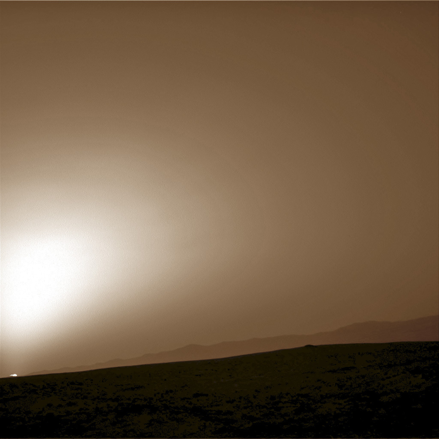 sun sets on mars nasa - photo #13