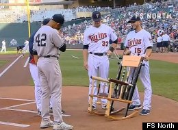 mariano rivera broken bat chair