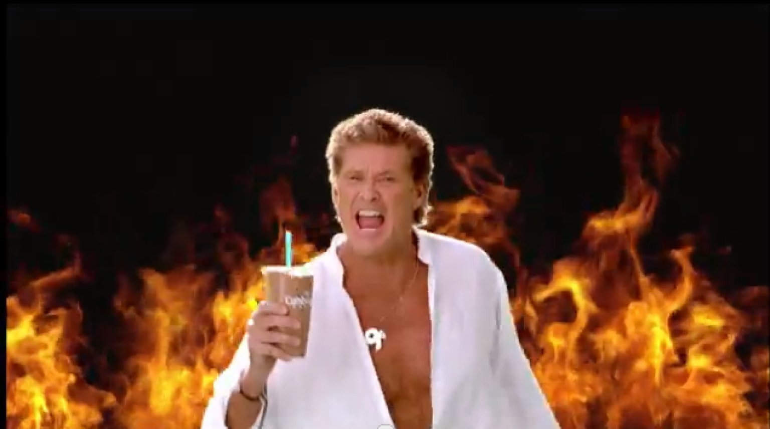 david hasselhoff is thirsty for your love in amazing commercial video huffpost. Black Bedroom Furniture Sets. Home Design Ideas