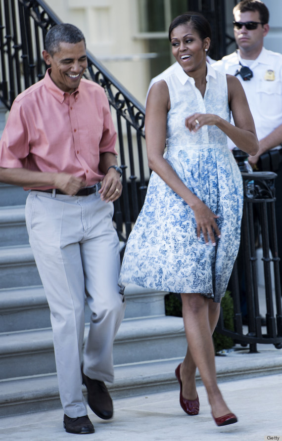 Obamas Fourth Of July Outfits Are Nicely Coordinated PHOTOS