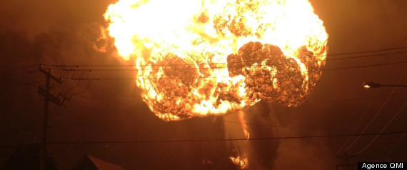 Lac Megantic Train Explosion Horizontal