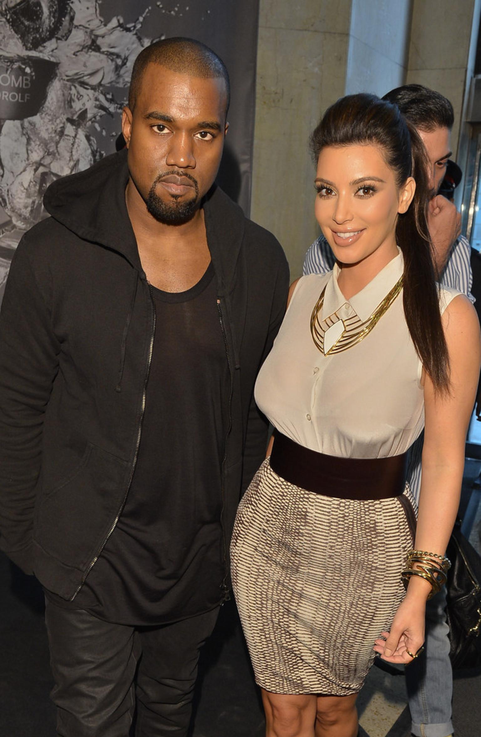 Kim Kardashian Kanye West Take Baby North To Fourth Of