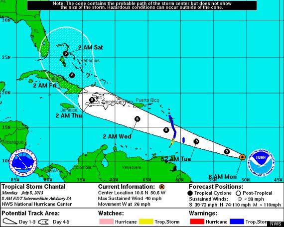 tropical storm chantal 2013