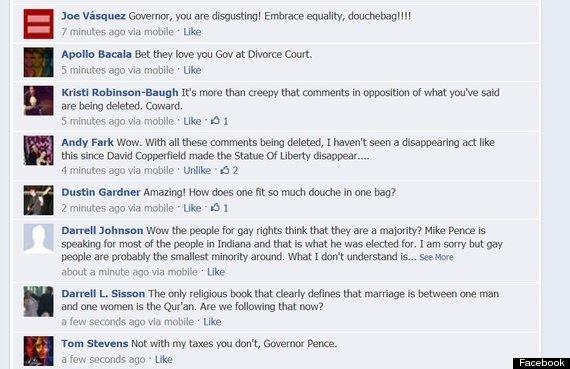 Facebook against same sex marriage