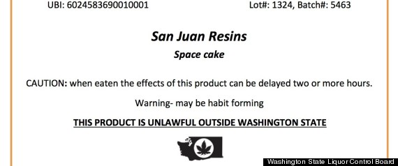 marijuana label