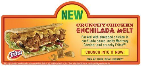 crunchy chicken enchilada melt