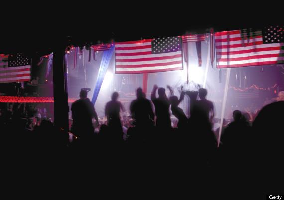 american flag disco