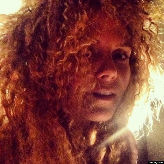 heidi klum curly hair