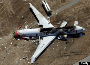San Francisco Plane Crash Path