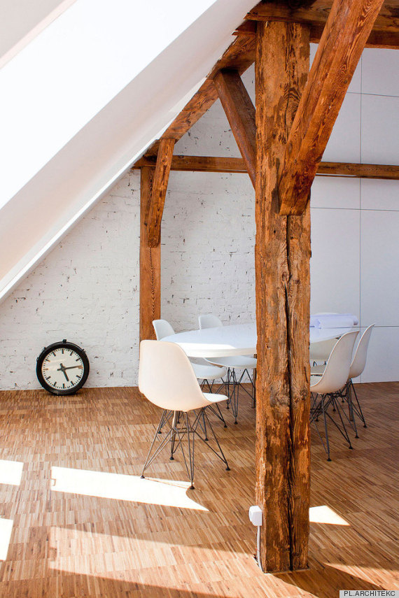 workshop in the attic