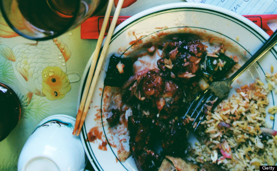 messy chinese food