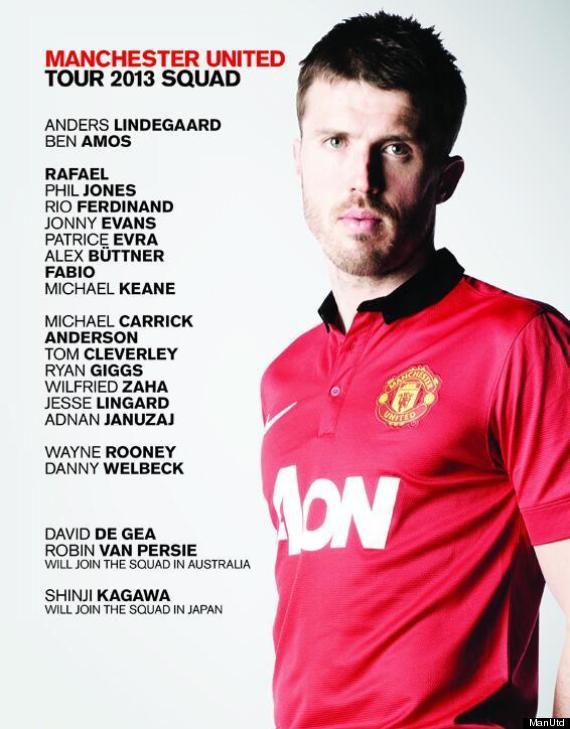 manchester united tour squad