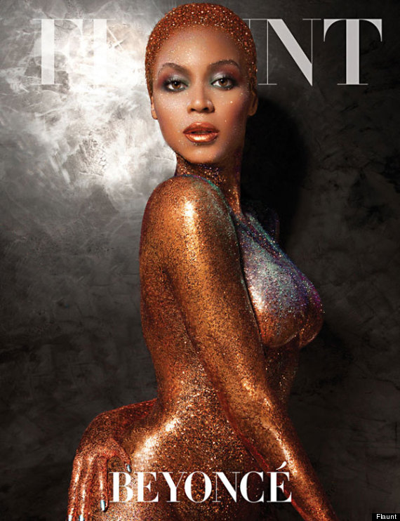 beyonce naked flaunt cover