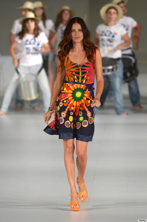 Runway fashion models dress