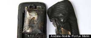 Galaxy S3 Melted Exploded Phone