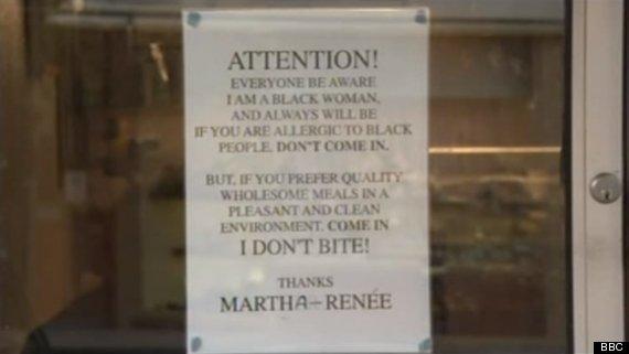 cafe owner racist backlash