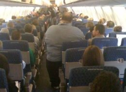 Obese Man On American Airlines
