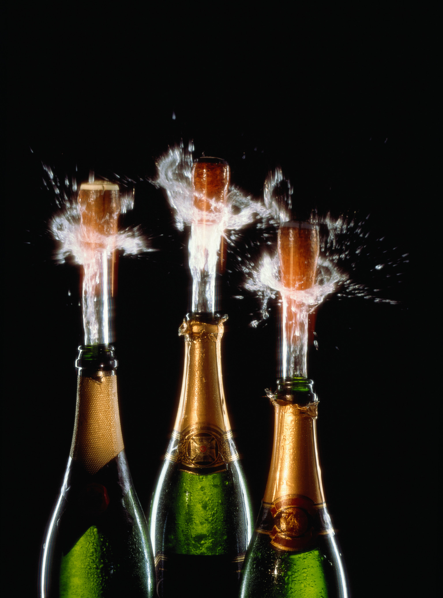 what is the best way to pour champagne