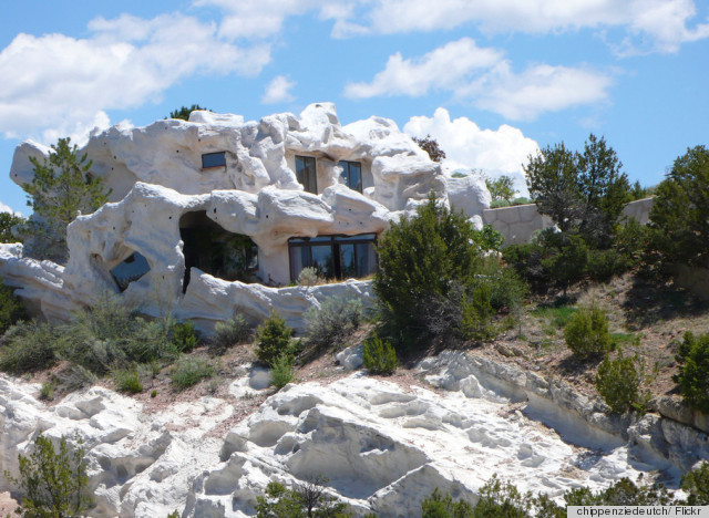 Camouflage home in lamy new mexico reminds us of 39 the for Rocks all insulation