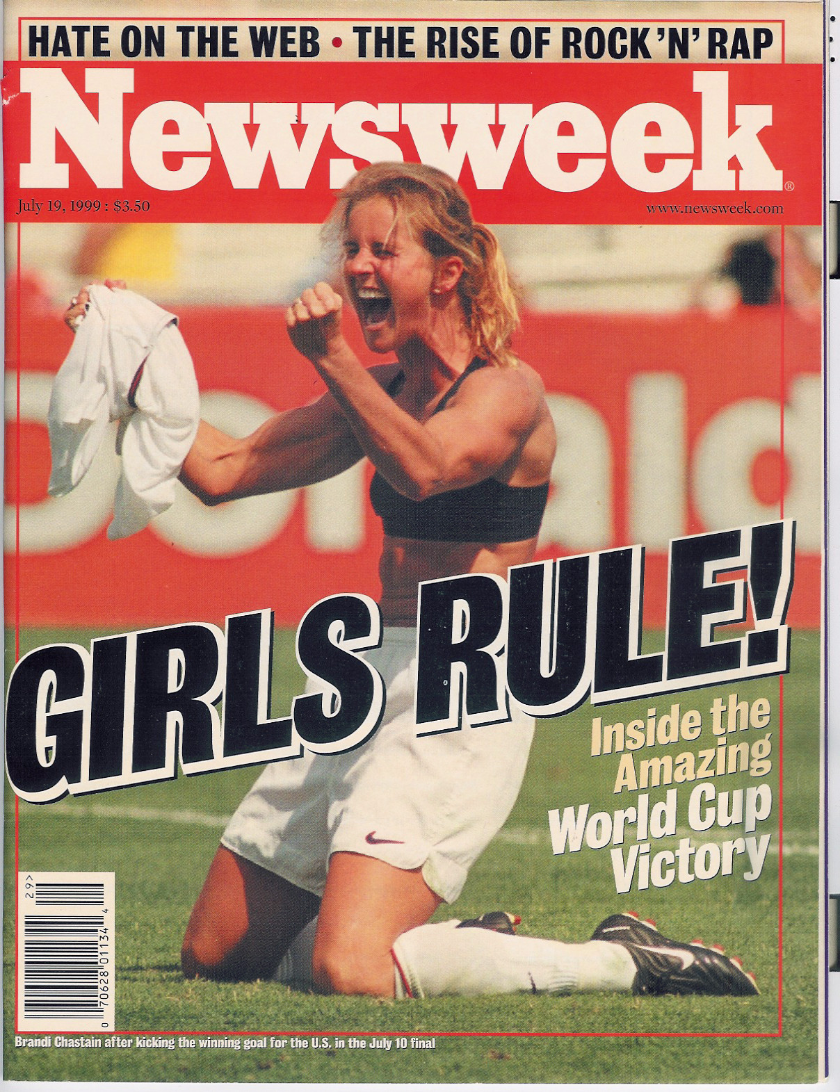 Brandi Chastain Goal Wins 1999 Women's World Cup, Triggers Iconic ... Brandi Chastain Sports Illustrated