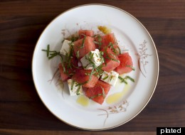 Watermelon, Mint and Feta Salad With Chaat Masala
