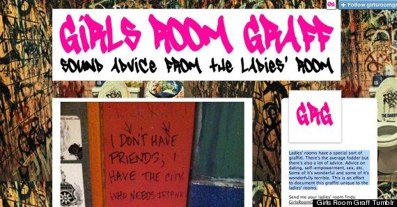 girls room graff