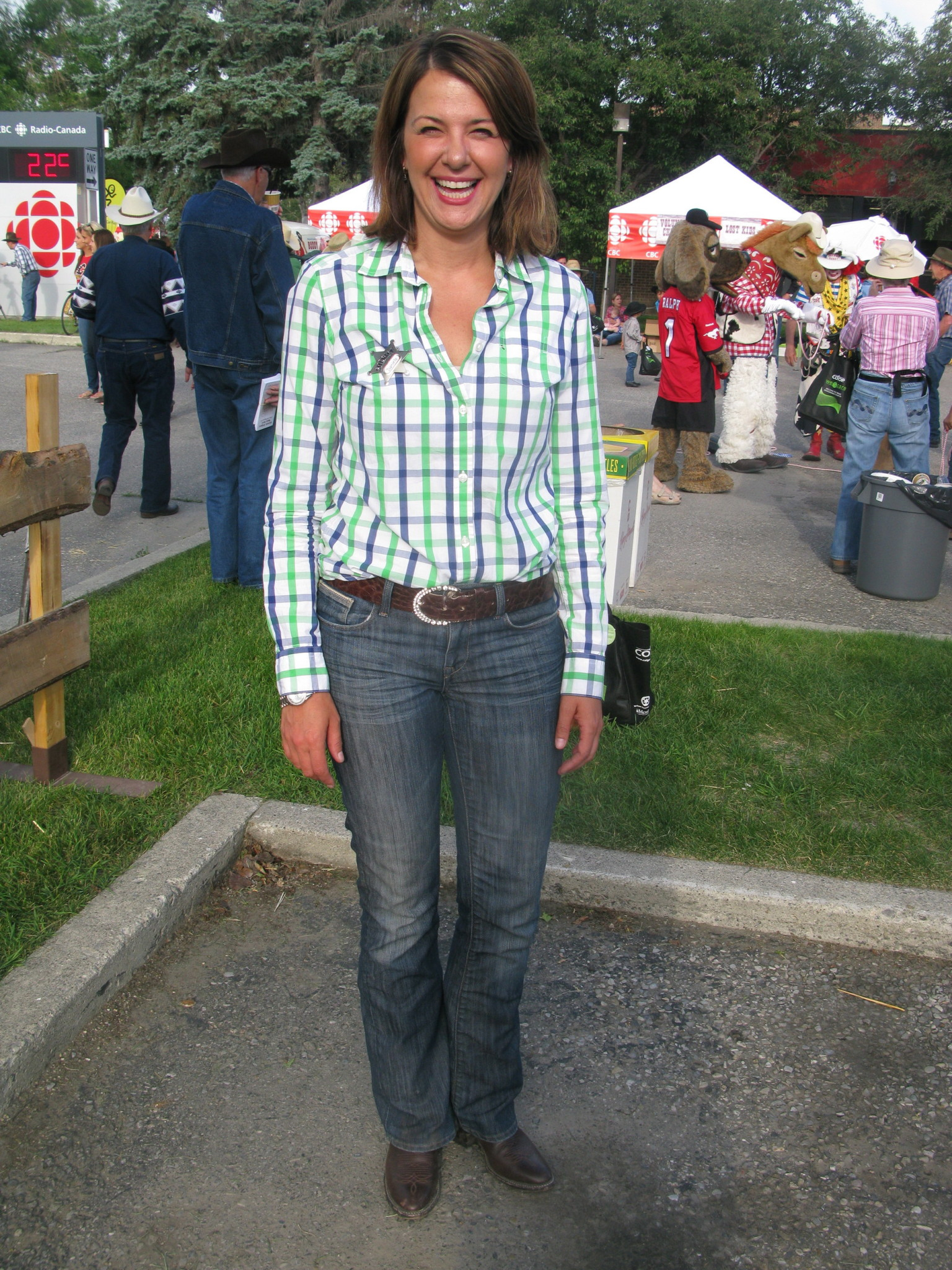 Danielle Smith Stampede Fashion Second In Politics But