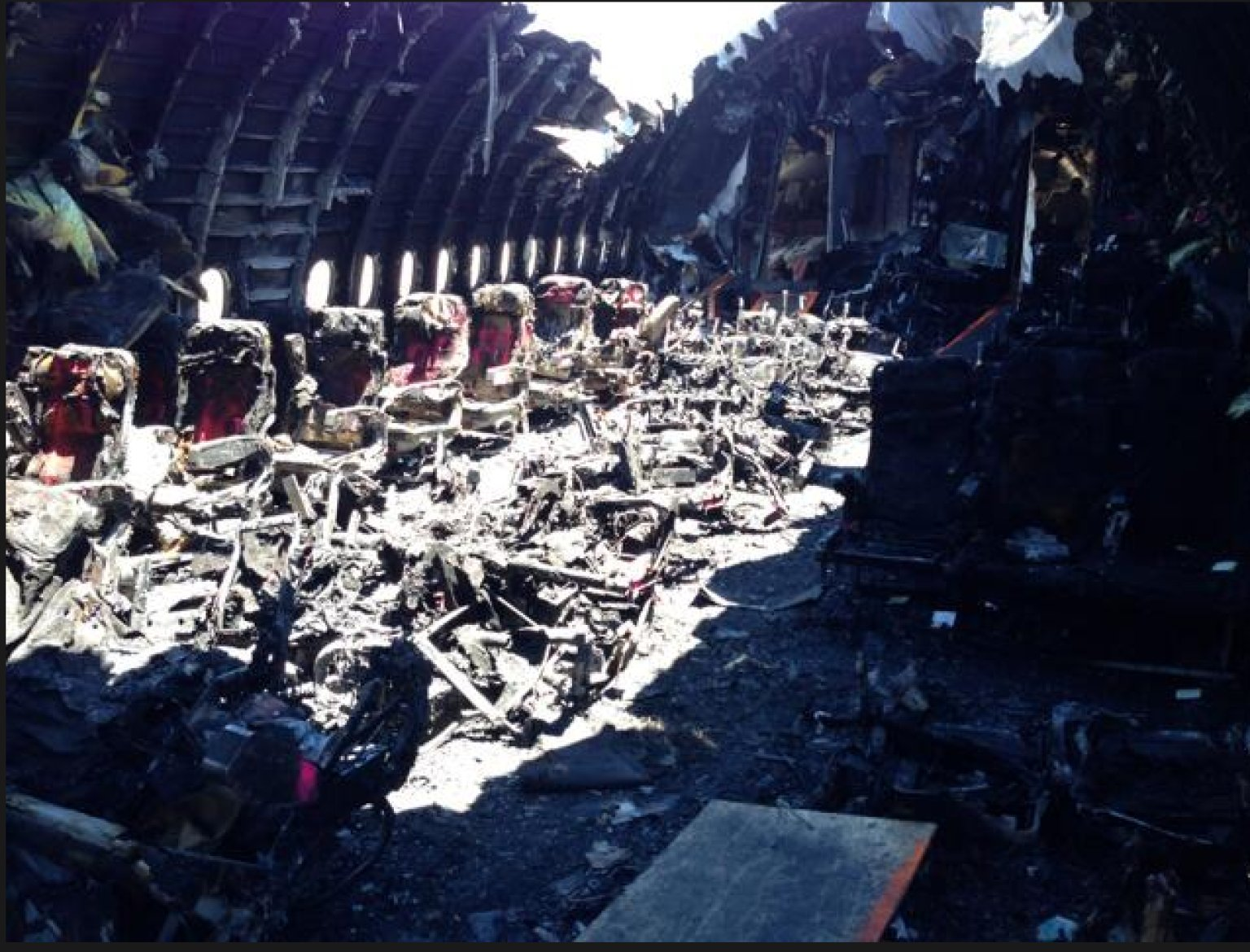 Asiana Cabin Photo Reveals Eerie Look At San Francisco ... United Airlines Flight 811 Human Remains