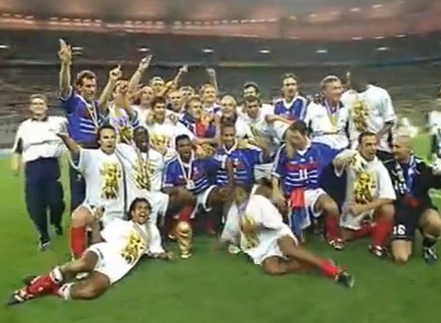 Vid os coupe du monde 98 la victoire de l 39 quipe de france a 15 ans - France 98 coupe du monde ...