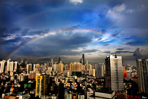 double rainbow china