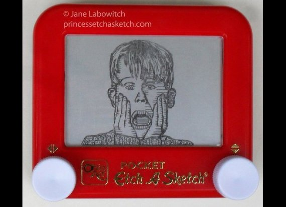15 Amazing Etch-A-Sketch Creations | HuffPost