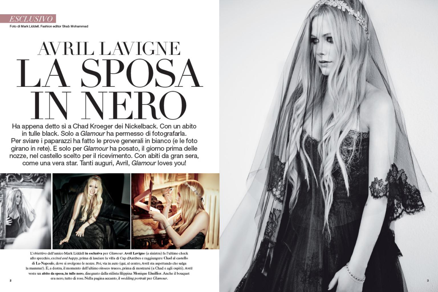 Avril Lavigne Matrimonio In Nero : Avril lavigne sposa dark abito di tulle nero per le nozze
