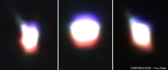 australia ufo changes shape and color