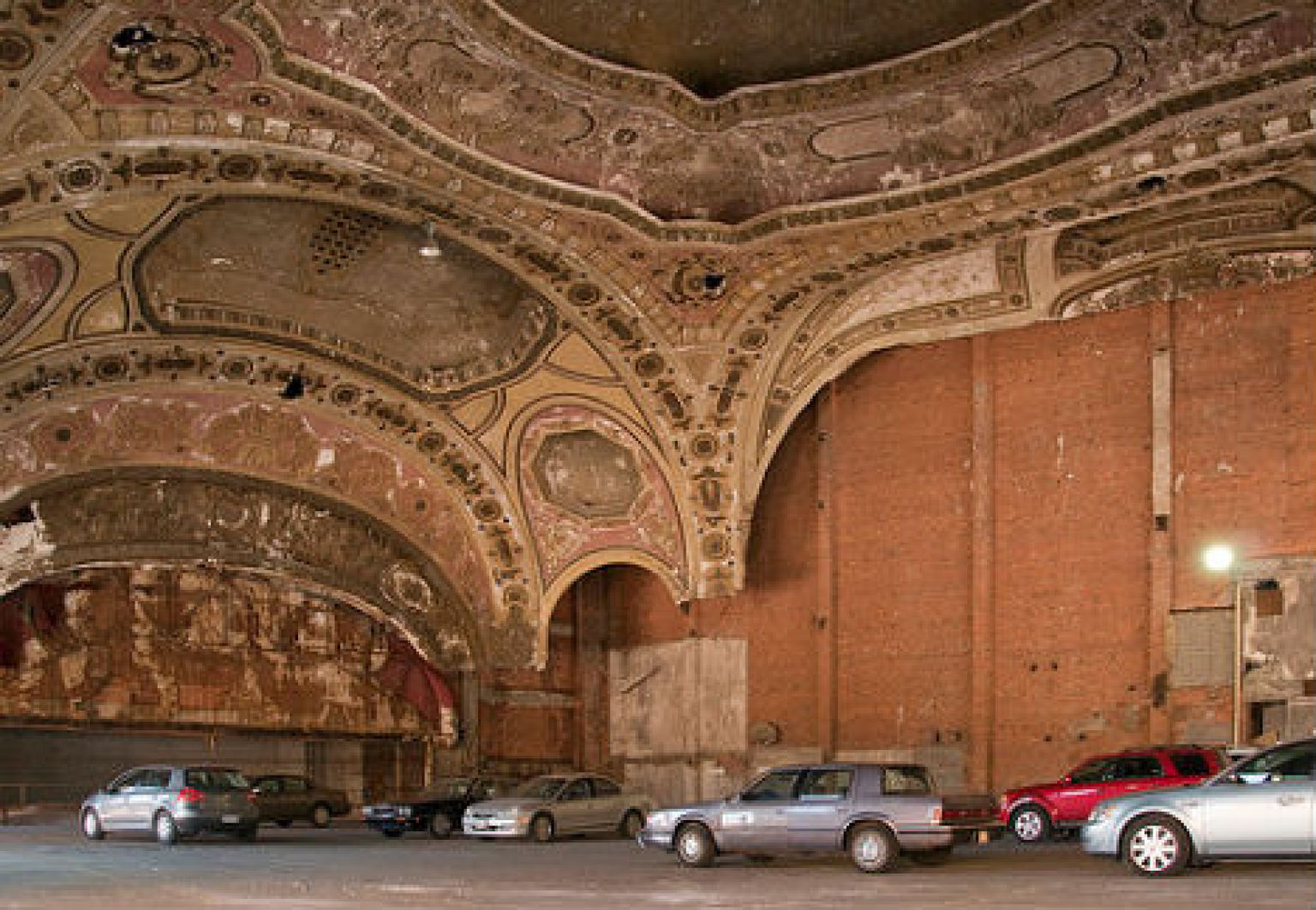 Detroit Michigan Theatre Car Park