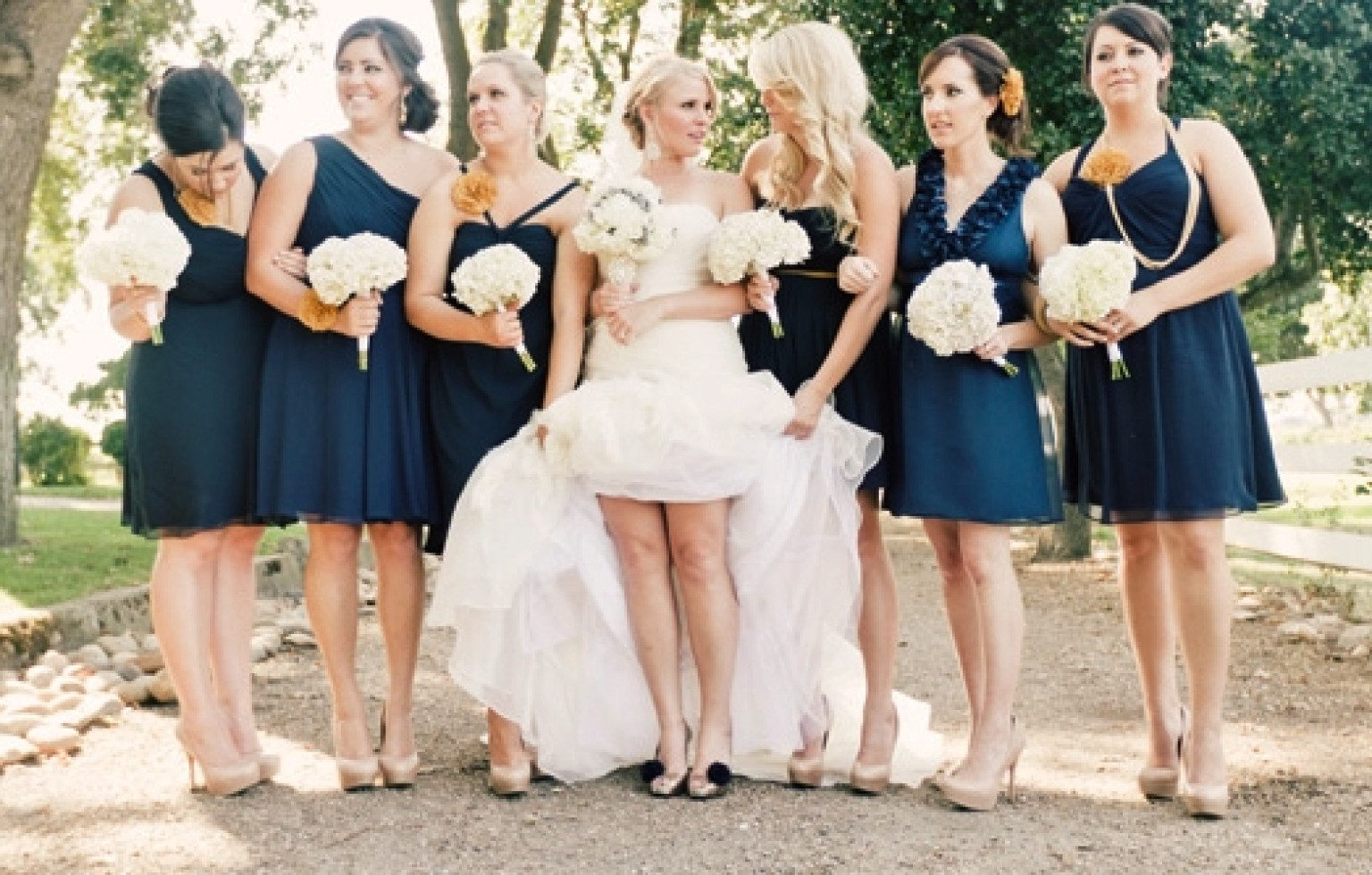 Navy Blue Bridesmaid Dress Options PHOTOS