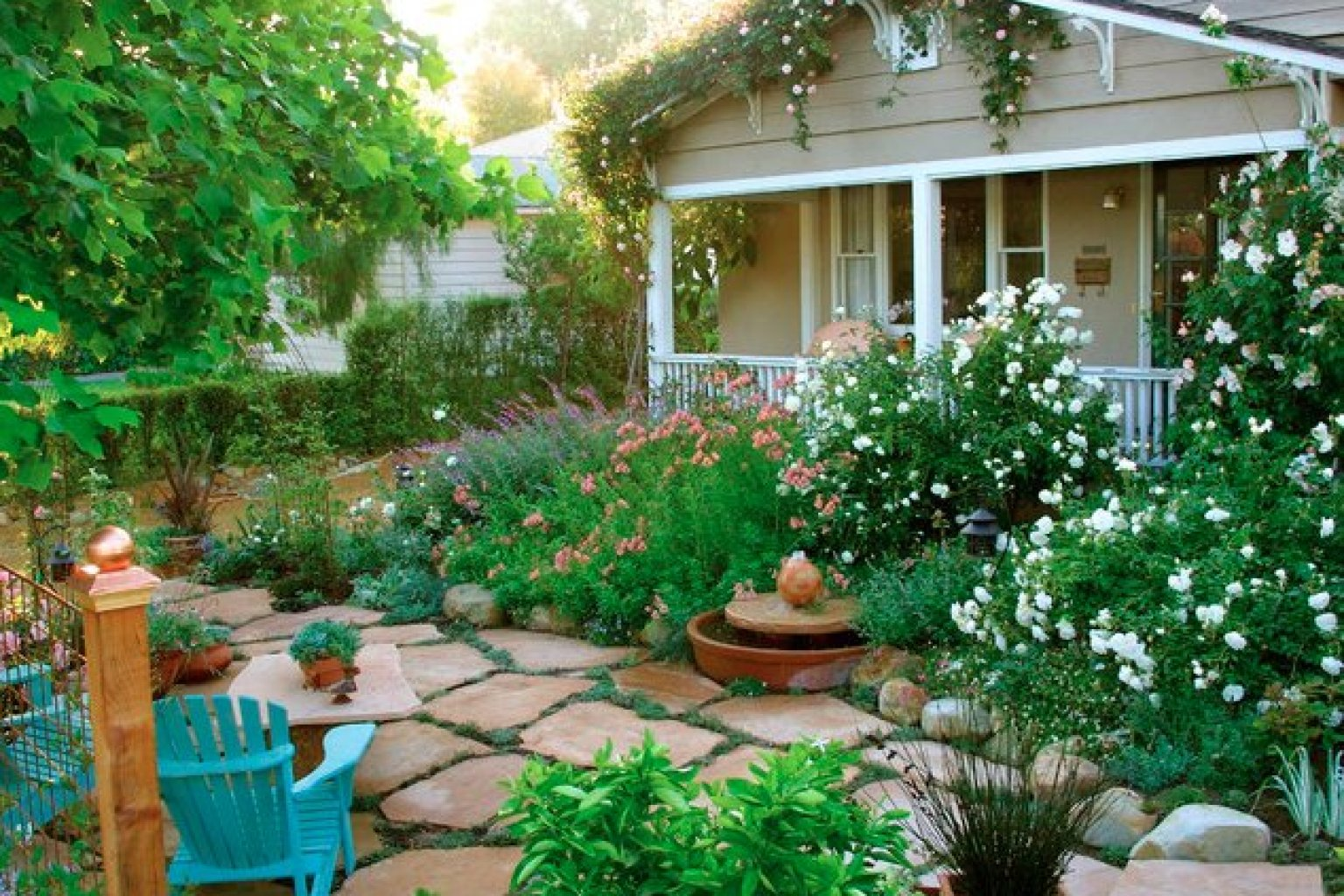10 cottage gardens that are just too charming for words for Backyard cottage plans