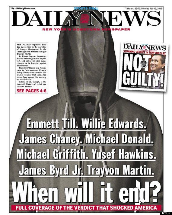New York Daily News Cover: NY Daily News' Powerful Trayvon Martin Front Page (PHOTO