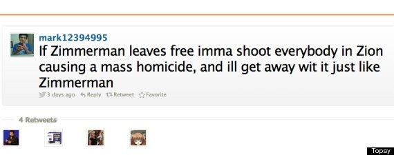 zimmerman tweet threat