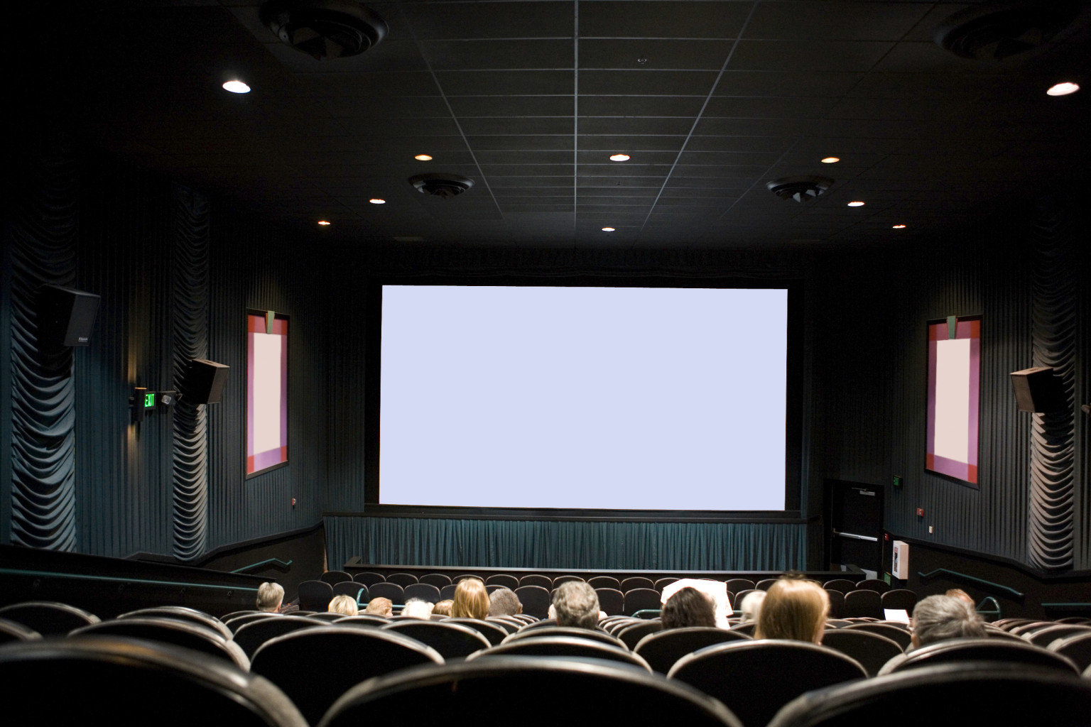 Movie Ater Full People O Crowded Movie Theater