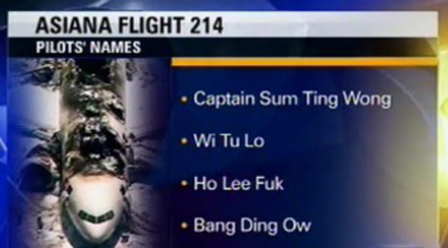 Funny Fake Names: KTVU Producer Fired Over Fake Pilot Names Says 'My Hard
