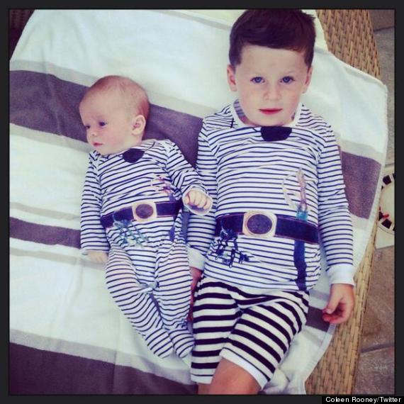 Wayne Rooney Children Coleen Rooney Posts Adorable Pictures Of Sons Kai And Klay In Matching