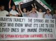 Syrians Hold Banner Supporting Trayvon Martin's Family (PHOTO)