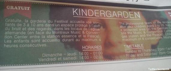 Quand le Montreux Jazz Festival fait la promotion de sa crèche avec une photo du petit Grégory