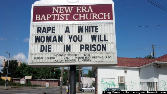 baptist church rape sign