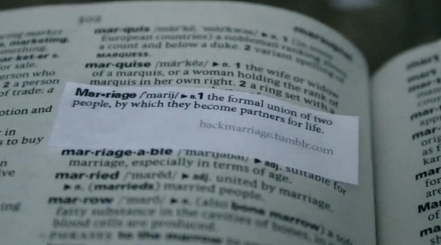 define marriage Marriage definition is - the state of being united as spouses in a consensual and contractual relationship recognized by law how to use marriage in a sentence usage .