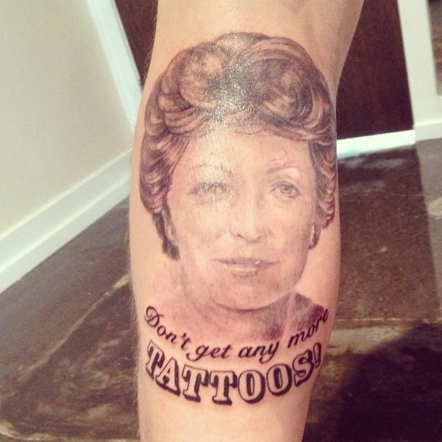 Tattoo Teaches Grandma A Lesson (PHOTO