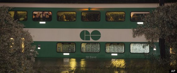 go train flood