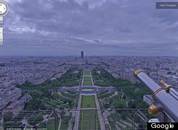 google street view eiffel tower