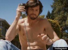WATCH: Ashton Kutcher Topless As Steve Jobs