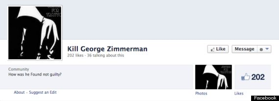kill george zimmerman facebook